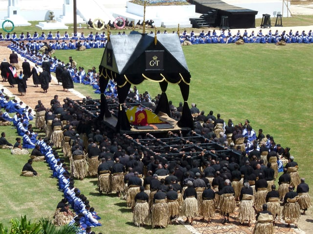 Tonga König Beerdigung