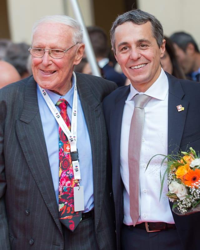 Flavio Cotti und Ignazio Cassis.