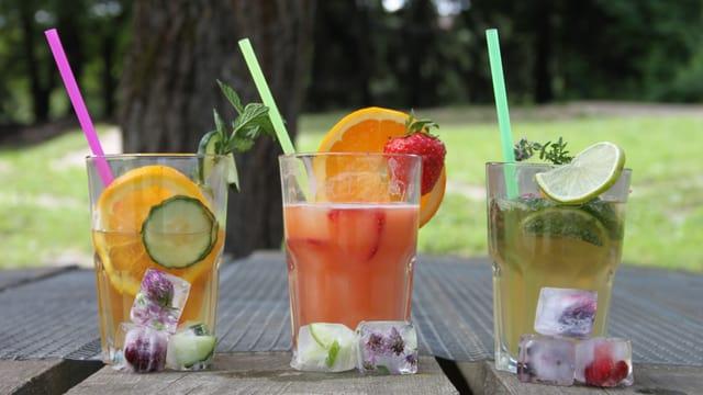 Drei Sommerdrinks