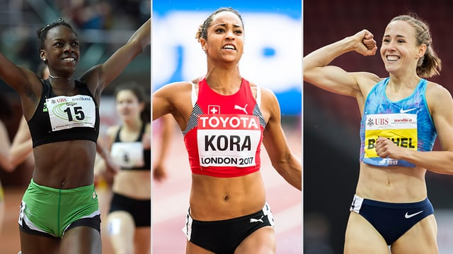 Drei Läuferinnen