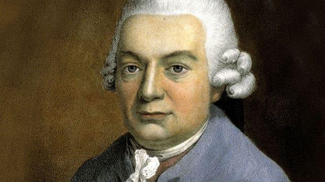 Porträt (in Farbe) von Carl Philipp Emanuel Bach.