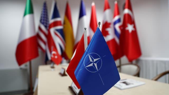 Nato und Türkei-Fähnchen