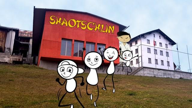 La sala polivalenta e la scola veglia da Tschlin fittada dal «Center da Bainesser».