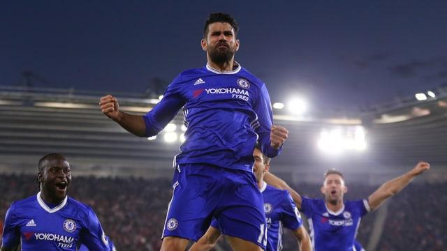 Costa jubelt über sein Tor.