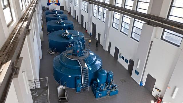 Turbinen in einem Wasserkraftwerk
