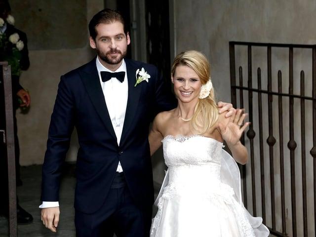 Tomaso Trussardi und Michelle Hunziker  bei ihrer Hochzeit