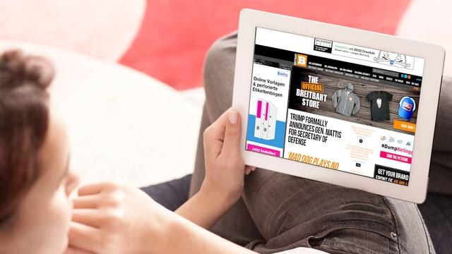 Breitbart Screenshot mit Schweizer Werbeanzeige
