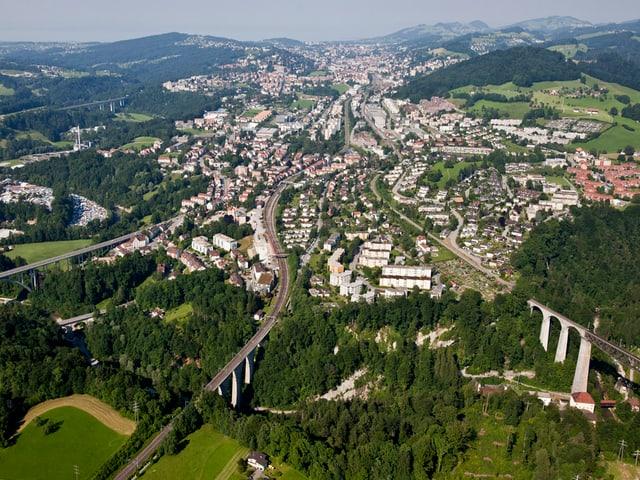 St. Gallen aus der Luft