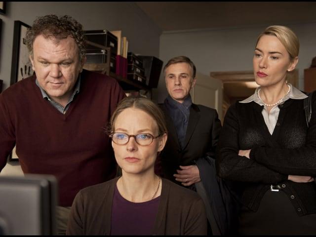 John C. Reilly, Jodie Foster, Christoph Waltz und Kate Winslet im Film «Carnage».
