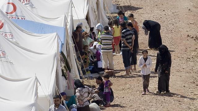 Syrische Flüchtlinge in einem Flüchtlingslager in der Türkei