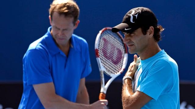 Roger Federer erhofft sich von seinem Coach Stefan Edberg wertvolle Inputs.
