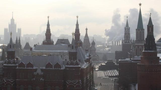 Grauer Freitag in Moskau