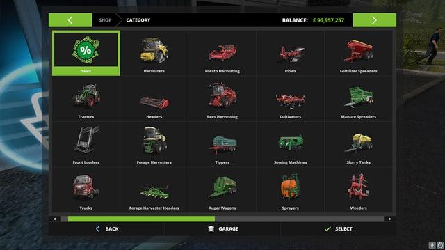 Alles was das Landwirtschaftsherz begehrt kann man sich im Shop kaufen.