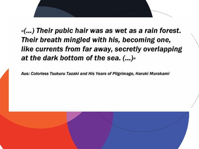 Ausschnitt aus dem Buch Colorless Tsukuru Tazaki and His Years of Pilgrimage, Haruki Murakami