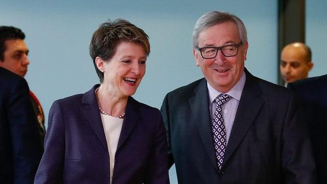 Sommaruga trifft Juncker in Brüssel.