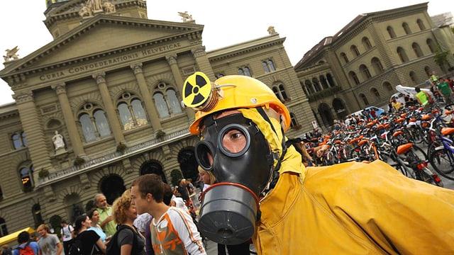 Demonstranten vor dem Bundeshaus in Bern.