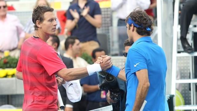 Tomas Berdych und Roger Federer.