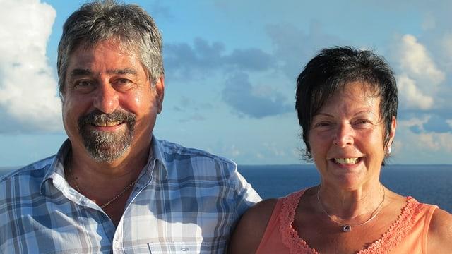 Astrid Lehni und Urs Birchmeier lachen in die Kamera