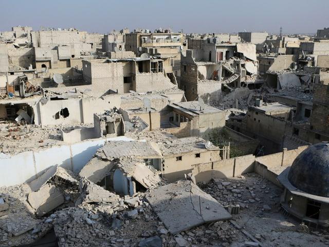 Das zerstörte Aleppo.