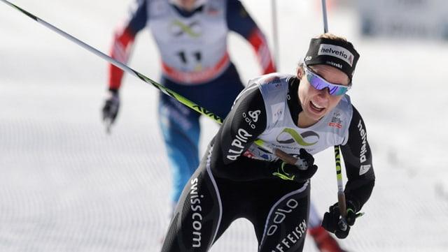 Laurien Van der Graaff schaffte einen Tag nach dem Einzelsprint auch im Team die Quali für Sotschi.