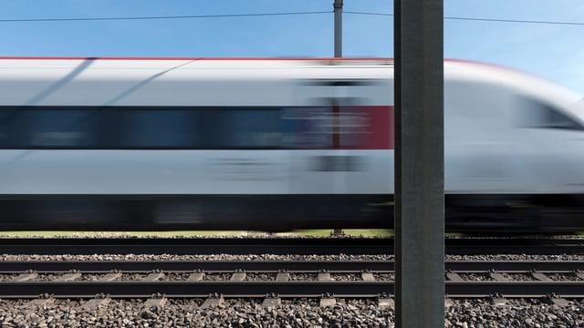 Zug vorbeifahrend