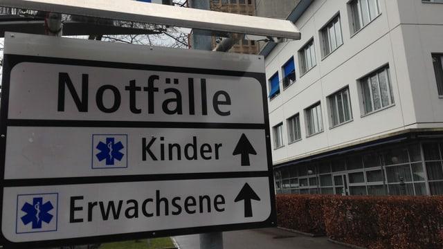 Notfall-Schild