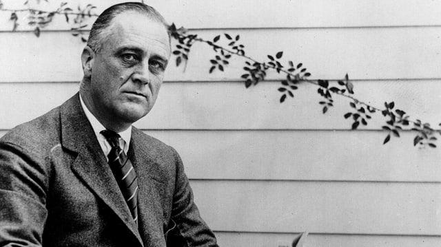 Franklin D. Roosevelt im Jahre 1928 (schwarz-weiss)
