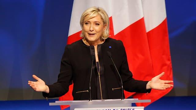 Marine Le Pen che vul daventar presidenta da la Frantscha.