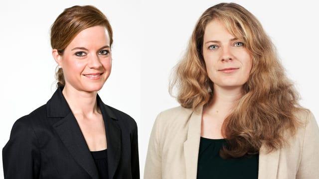Porträt von Juliette Schild (links) und Rachel Murith.
