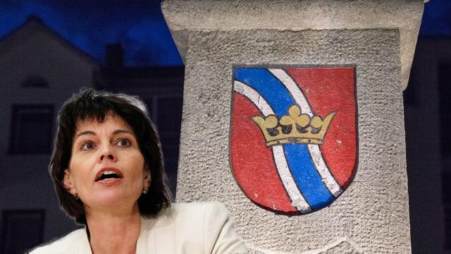 La presidenta da la Confederaziun vegn a Glion.