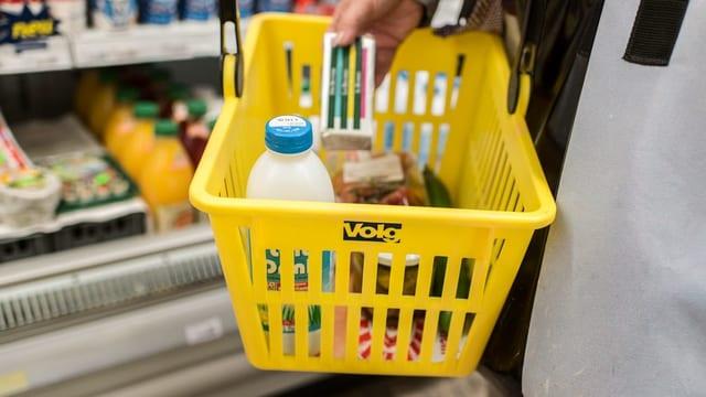 Chanaster da far cumpras mellen dal Volg davant in regla cun products fraids.