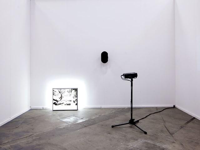 Ist mit einer ziemlich komplexen Soundinstallation vertreten: Künstler Gilles Aubry.