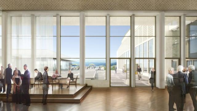 Visualisierung des neuen Kongresshauses Zürich.