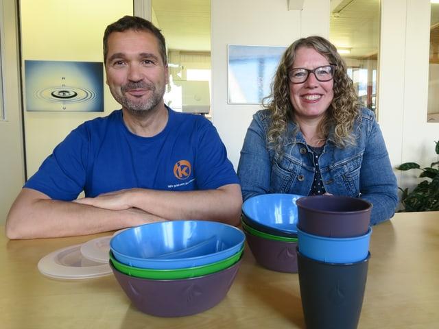 Sie hatte die Idee, er führt sie aus: Daniel Kälin, Chef der Stefan Kälin AG, und Jeannette Morath von «reCircle».