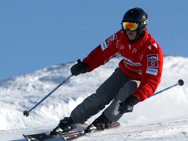 Schumacher beim Skifahren auf einem Archivbild aus dem Jahr 2005