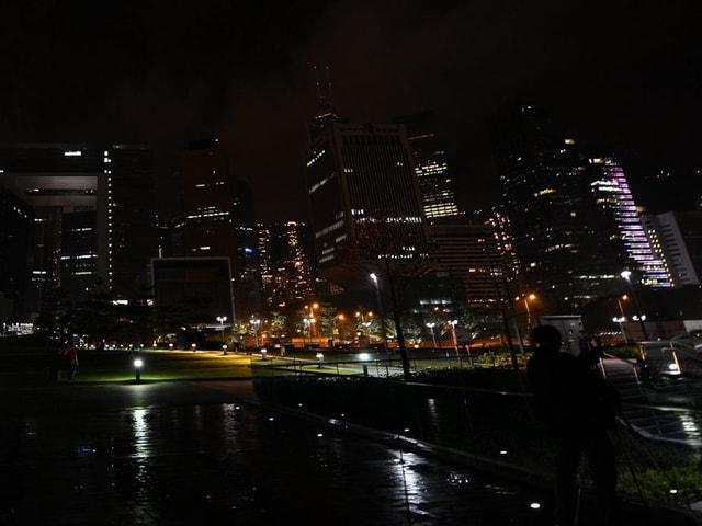 Dunkle Nacht in Hongkong.