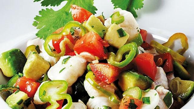 Fisch mit Gemüse.