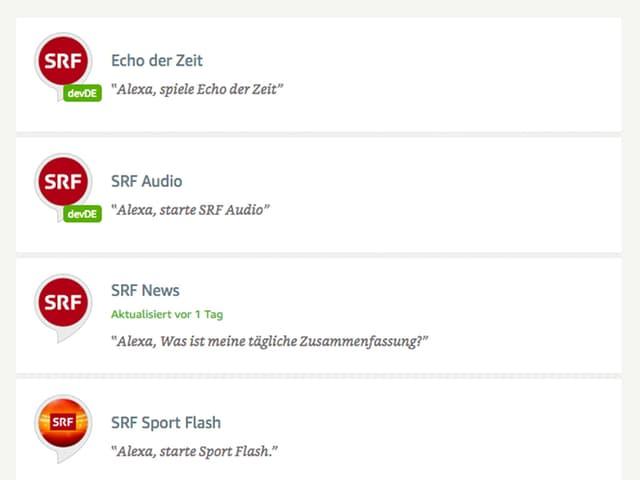 (Screenshot) SRF Skills aus Amazon Store