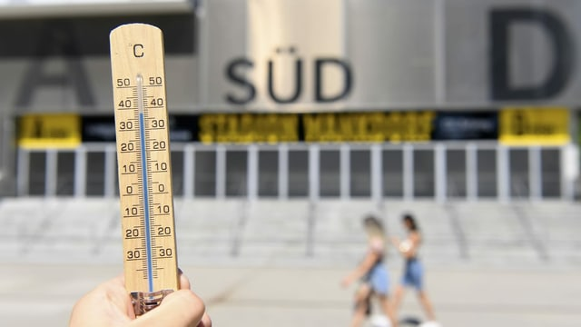 Maletg simbolic cun in termometer.