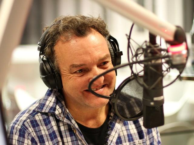 Marco Rima im Radiostudio.