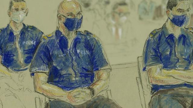 Zeichnung Polizisten.