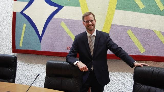 Patrick Guidon im Gerichtssaal des Kantonsgerichts St. Gallen.