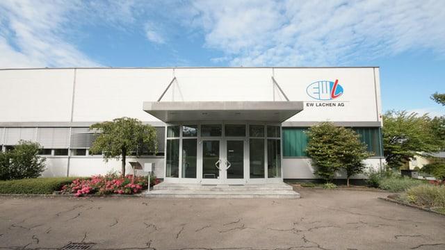 Betriebsgebäude des EW Lachen.