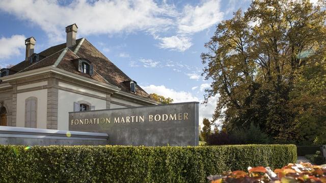 Das Gebäude der Fondation Bodmer.