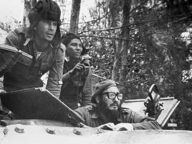 Castro mit Kämpfer.