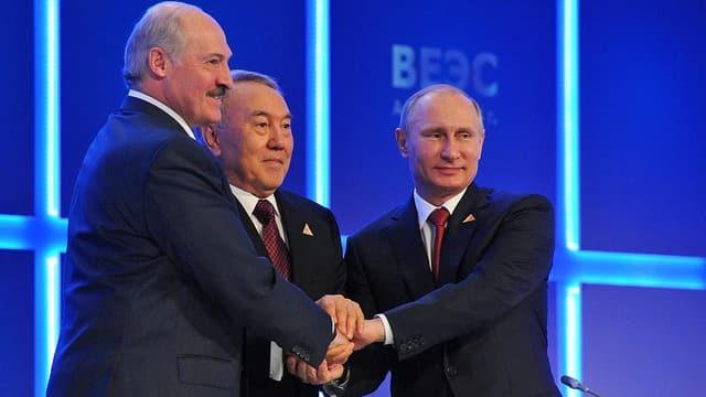 Lukaschenko, Nasarbajew, Putin