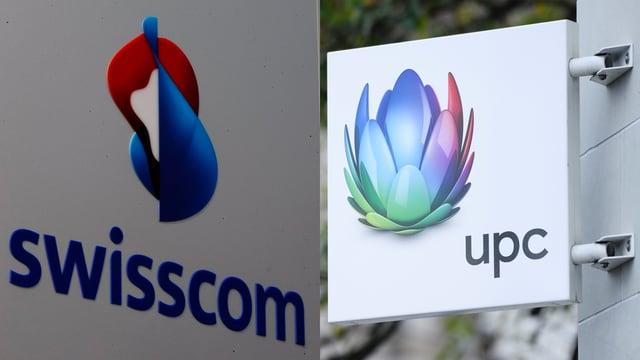 Purtret dals logos da Swisscom e UPC.