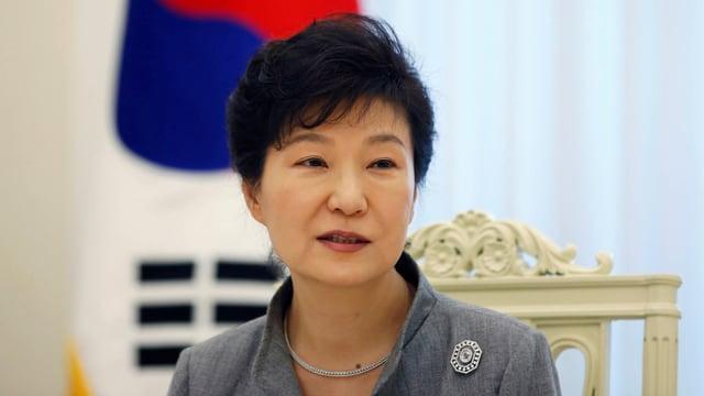 Gegen sie wird nun Anklage erhoben: Südkoreas ehemalige Präsidentin Park, hier auf einem Bild von 2014.