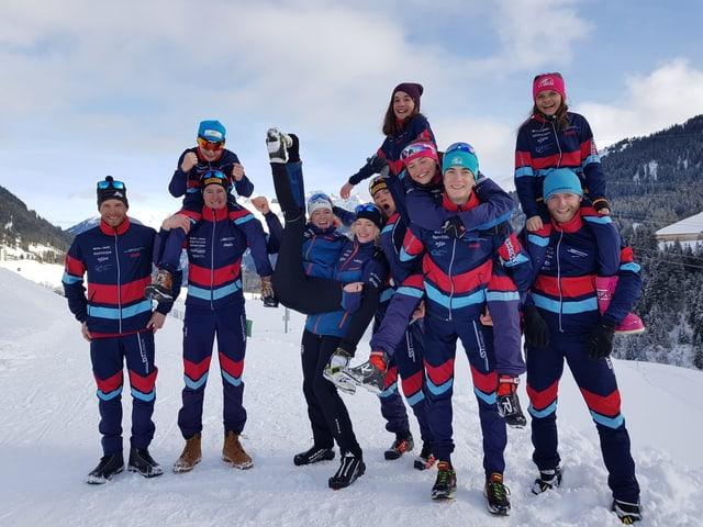 Team nordic 2018/19 dal SST Surselva.