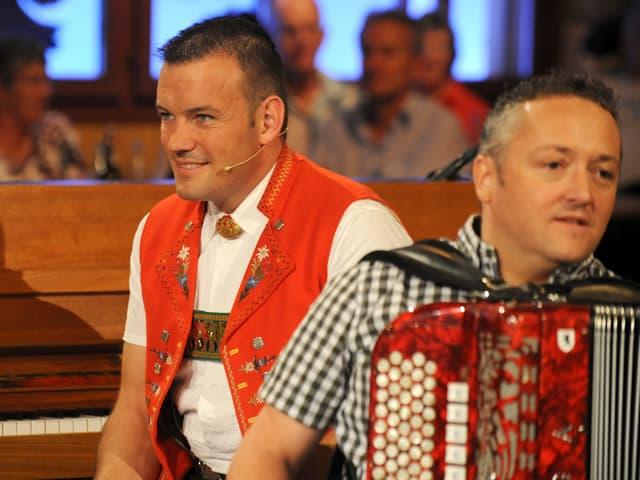 Philipp Haas und Frowin Neff nach dem Auftritt